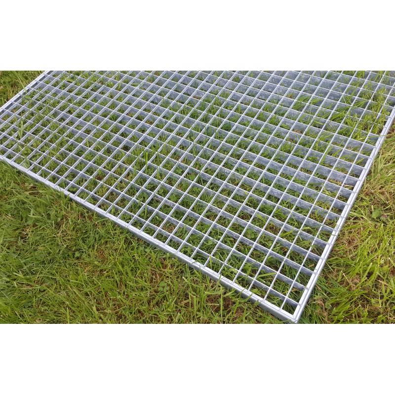 Grille caillebotis acier galvanis antid rapant 1200 x 1000 mm - Prix grille caillebotis acier galvanise ...