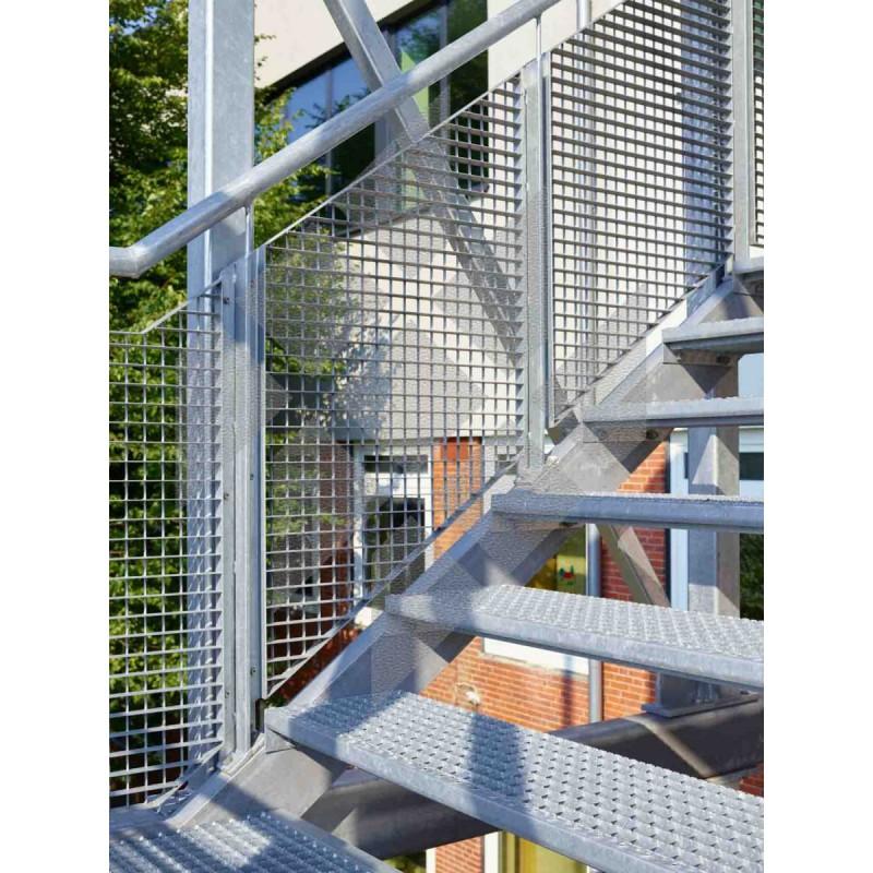 limon d 39 escalier gauche galvanis 3m95 14 marches. Black Bedroom Furniture Sets. Home Design Ideas