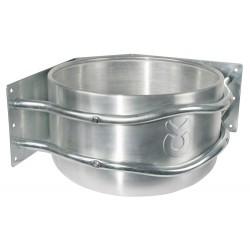 Mangeoire d'angle en Aluminium ronde et support zingué - 18 L - KERBL