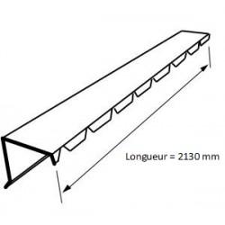 Faîtière crantée sur mur Tôle Profilée Bac Acier RAL 7016 Gris Anthracite - 2m10