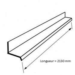Rive Contre Mur Tôle Bac Acier Profilée RAL 7016 Gris Anthracite - 2m10
