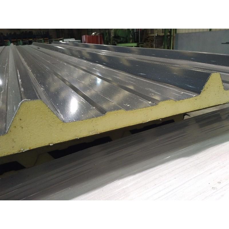 Panneau sandwich 4m10 eco 30 mm sous face aluminium ral 7016 for Panneau jardin gris anthracite