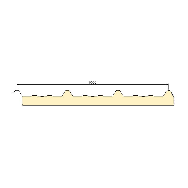Panneau Sandwich 7m10 ECO 30 mm + Sous Face Aluminium  Gris Anthracite RAL 7016