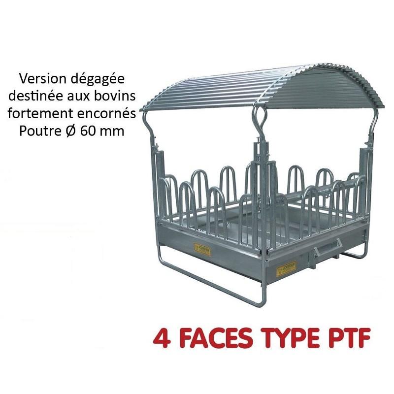 RATELIER 4 FACES TYPE P.T.F. pour Chevaux et Bovins - JOURDAIN