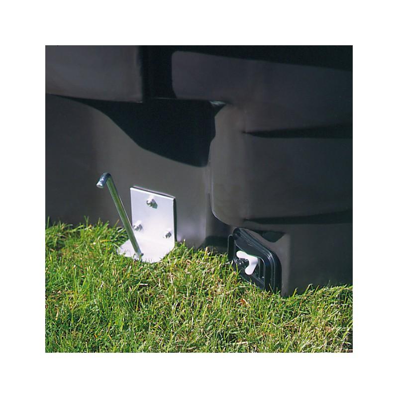 accessoire en inox acier galvanis kit d 39 ancrage au sol. Black Bedroom Furniture Sets. Home Design Ideas