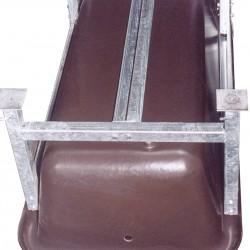 Support transversal - 2 pieds - barre antichute - Boulonnerie