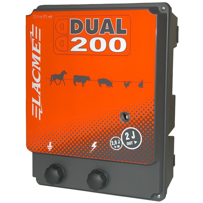 Electrificateur pour cl tures lectriques dual 200 lacme for Lacme clos 2000