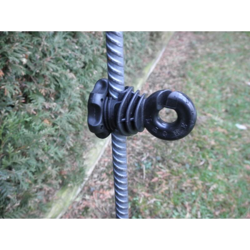 Isolateurs piquets métal et PFV LACME -   IVABLOC 25 pour clôture électrique