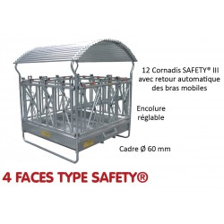 RATELIER 4 FACES TYPE SAFETY pour Bovins - JOURDAIN